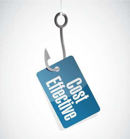 product signal: Cost effective hook sign concept illustration design graphic