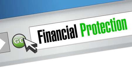 secret society: Financial Protection online browser concept illustration design graphic