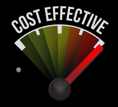 effective: Cost effective meter sign concept illustration design graphic