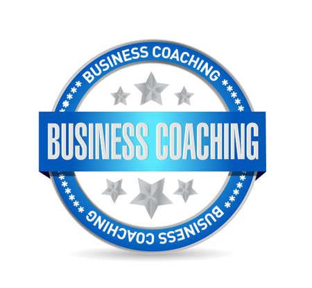 career coach: business coaching seal sign concept illustration design graphic Illustration
