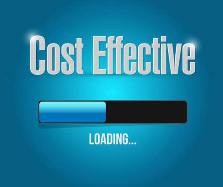 effective: Cost effective loading bar sign concept illustration design graphic