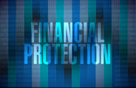 secret number: Financial Protection binary background sign concept illustration design graphic