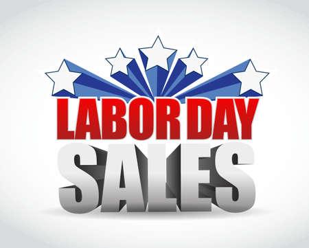 labor day sales sign illustration design graphic