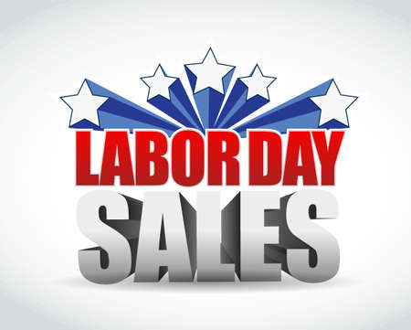 labor day sales sign illustration design graphic