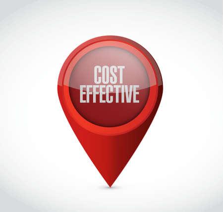 Cost effective pointer sign concept illustration design graphic Illustration