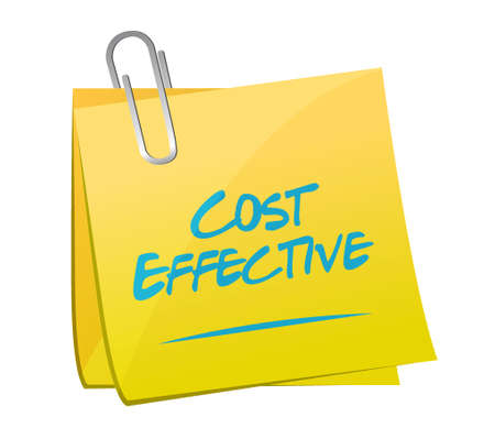 product signal: Cost effective memo post sign concept illustration design graphic