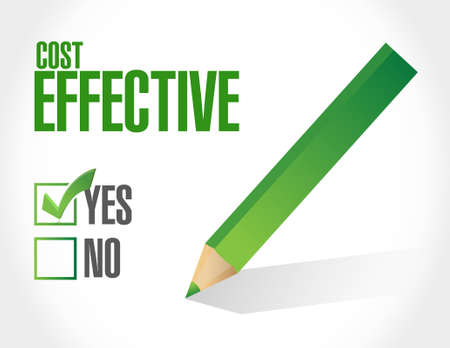 effective: Cost effective approval sign concept illustration design graphic