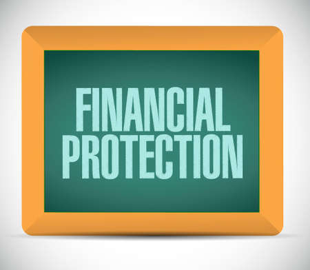 Financial Protection board sign concept illustration design graphic