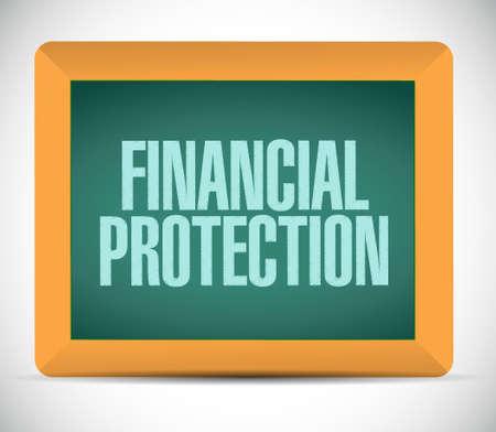 financial protection: Financial Protection board sign concept illustration design graphic