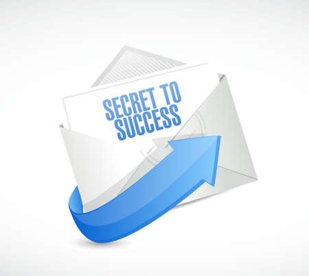 secrets: secret to success mail sign concept illustration design graphics Illustration