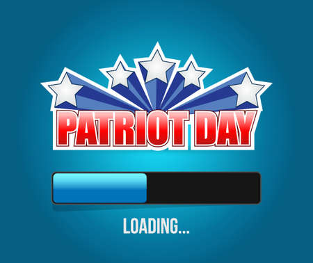 american downloads: Patriot day us loading bar sign illustration design graphic