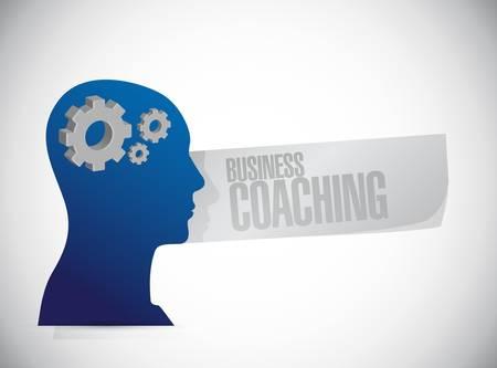 business mind: business coaching people mind sign concept illustration design graphic
