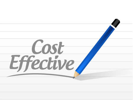 product signal: Cost effective message sign concept illustration design graphic
