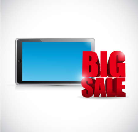 Big sale computer tablet business sign illustration design icon graphic