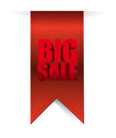 hanging banner: Big sale hanging banner business sign illustration design icon graphic