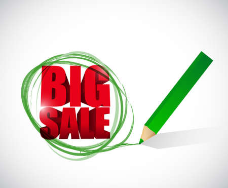 business sign: Big sale selection business sign illustration design icon graphic