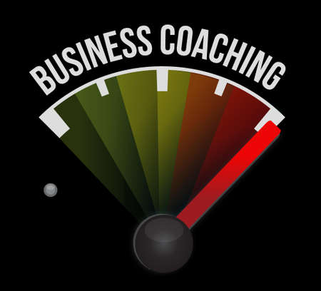 career coach: business coaching meter sign concept illustration design graphic