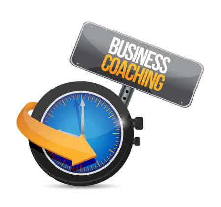 business time: business coaching time watch sign concept illustration design graphic
