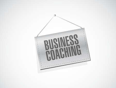 hanging banner: business coaching hanging banner sign concept illustration design graphic Illustration