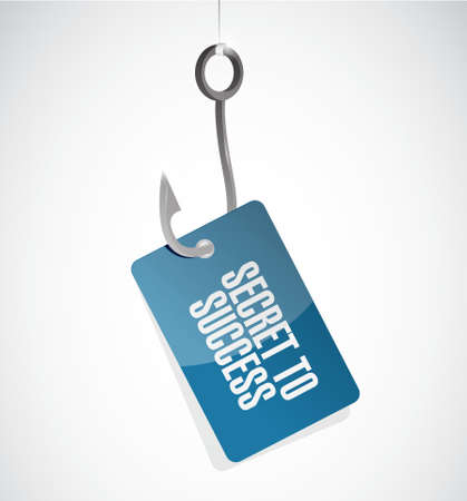 secret word: secret to success hook tag sign concept illustration design graphics