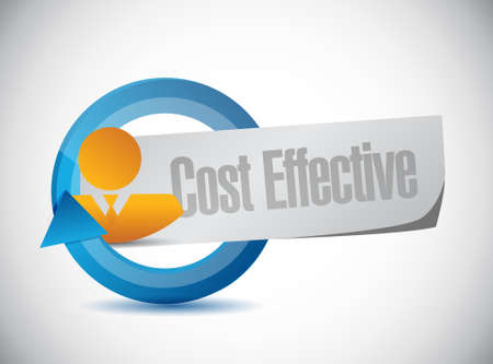 effective: Cost effective avatar sign concept illustration design graphic Illustration