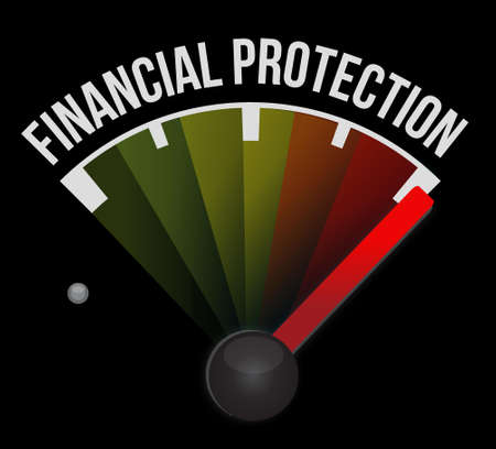 secret society: Financial Protection meter sign concept illustration design graphic Illustration
