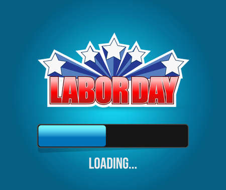 labour: labor day loading bar sign illustration design graphic Illustration