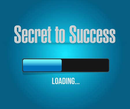 success concept: secret to success button sign concept illustration design graphics