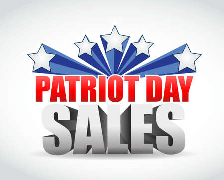 patriot: Patriot day sales us colors sign illustration design graphic