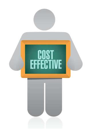 Cost effective avatar sign concept illustration design graphic Ilustrace