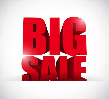 pocket: Big sale inside a paper pocket business sign illustration design icon graphic