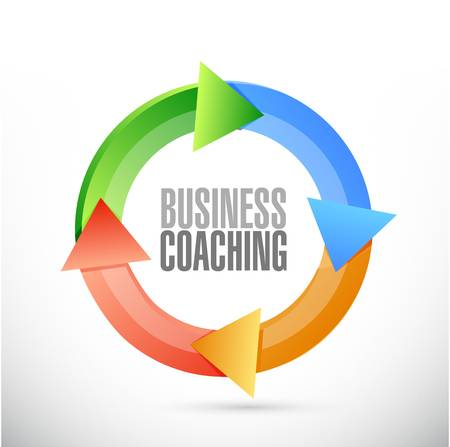 business coaching cycle sign concept illustration design graphic