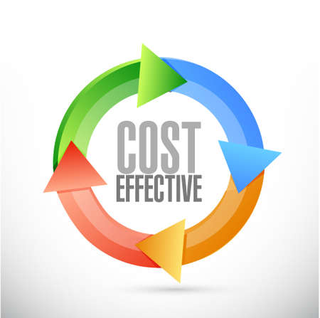 effective: Cost effective cycle sign concept illustration design graphic
