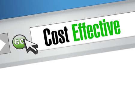 product signal: Cost effective online management sign concept illustration design graphic