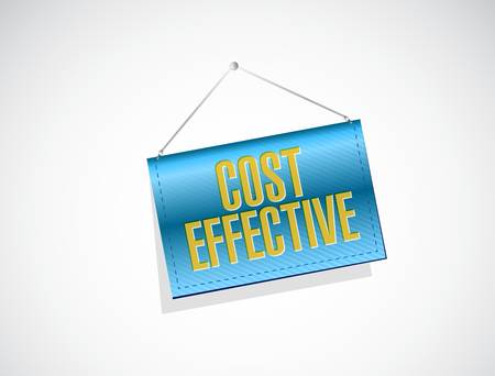 effective: Cost effective banner sign concept illustration design graphic