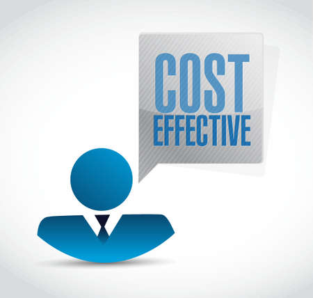 effective: Cost effective business avatar sign concept illustration design graphic