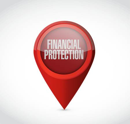 financial protection: Financial Protection pointer sign concept illustration design graphic