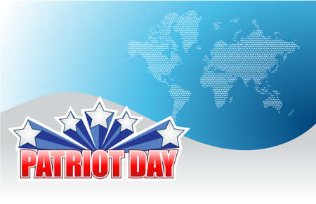patriot: Patriot day background segno illustrazione graphic design
