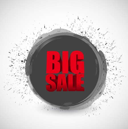ink illustration: Big sale black ink paint business sign illustration design icon graphic