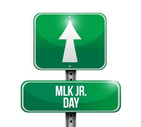 civil rights: MLK jr. day road sign illustration design icon graphic Illustration