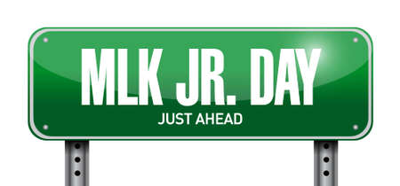 national hero: MLK jr. day board sign illustration design icon graphic