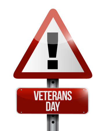 honoring: veterans day warnings sign illustration design icon graphic