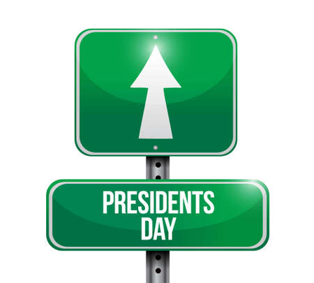 presidency: presidents day road sign illustration design icon graphic