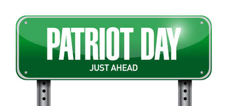 world trade center: patriot day post sign illustration design icon graphic