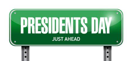 presidency: presidents day street sign illustration design icon graphic Illustration