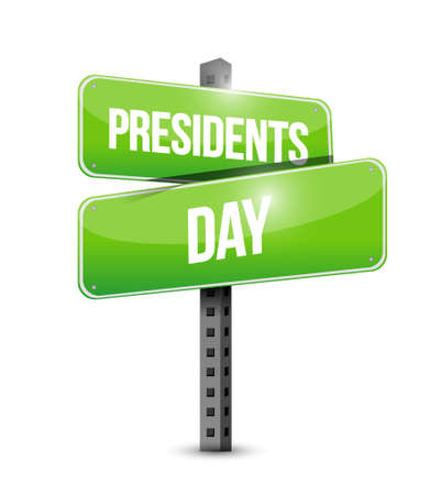 presidency: presidents day street sign illustration design icon graphic Illustration