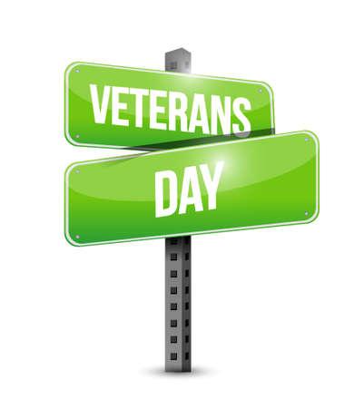 civil rights: veterans day street sign illustration design icon graphic