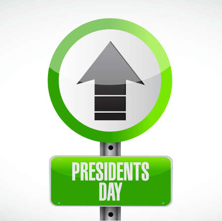 presidents: presidents day up arrow road sign illustration design icon graphic Illustration