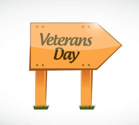 civil rights: veterans day wood sign illustration design icon graphic Illustration