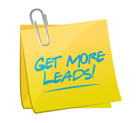 clientele: Get More Leads post memo sign illustration design graphic